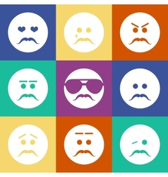 smiles men flat vector image