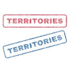 Territories textile stamps vector