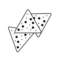 Tortilla chips or nachos tortillas icon vector