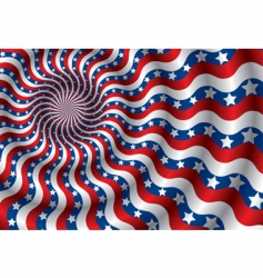 USA flag abstraction vector image