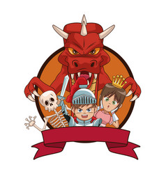 Videogames characters cartoons vector