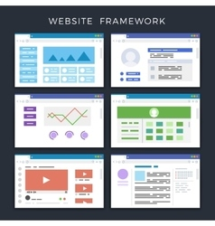 Web site page templates layouts website vector