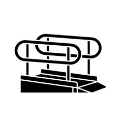 Wheelchair ramp black glyph icon vector