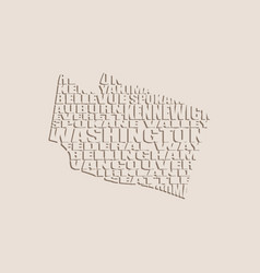 Word cloud map of washington state vector