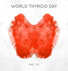 World Thyroid Day Thyroid Solidarity Day vector image