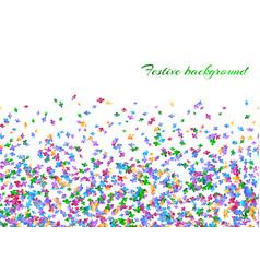 Celebration background with confetti vector