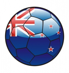 flag of New Zealand on soccer ball vector image vector image