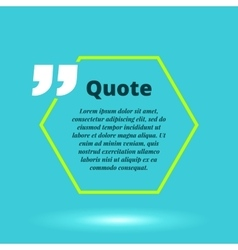 Moderrn quote blank template concept vector image