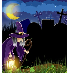 Old witch vector image vector image