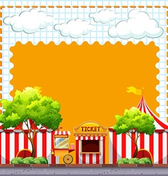Paper design with circus tents vector image