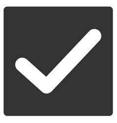 valid tick flat icon vector image