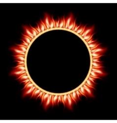 Abstract burning star circle view EPS 10 vector image vector image