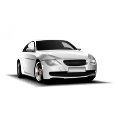 Digital white and silver sport race car vector image