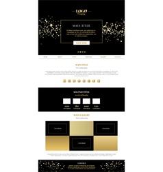 Golden minimalistic landing page vector image vector image