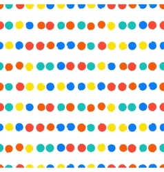 Simple striped geometric pattern with dots vector image vector image
