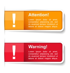 Attention and Warning Labels vector image