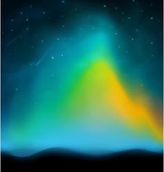 Aurora background vector image