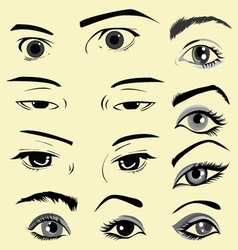 eyes in comics vector image vector image