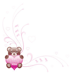 Happy Valentines day border I love you - text vector image vector image