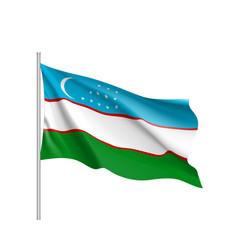 National flag of uzbekistan republic vector