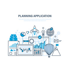 planning application programming and coding vector image
