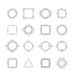 set of luxury monogram vector image