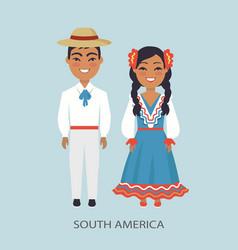 south america culture customs vector image