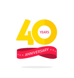 40 years anniversary logo 40th anniversary icon vector image