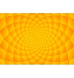 Abstract bright orange fibonacci background vector image