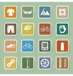 Bicycle icons set eps 10 vector image vector image