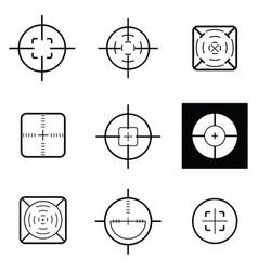 crosshair icon set vector image