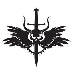 Dark emblem vector