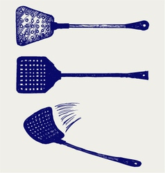 Fly swatter vector image vector image