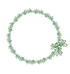 green round frame of leaves isolated on white vector image