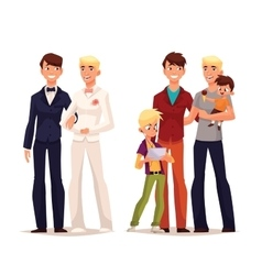 Lesbian wedding couple girl with a child vector image