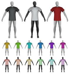 plain shirt on mannequin torso template vector image vector image