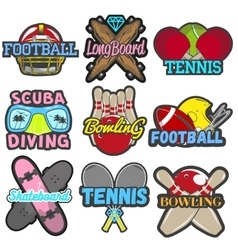 set of sports emblems badges logos vector image vector image