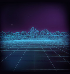 3d futuristic wireframe futuristic vector image