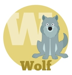 ABC Cartoon Wolf2 vector image