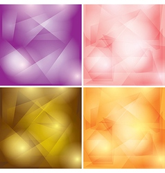 abstract colored geometric backgrounds vector image