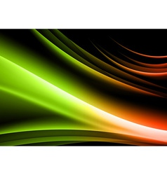 abstract shape black green vector image