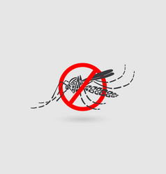 Aedes aegypti mosquitoes logo icon vector