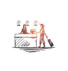 airport business trip design businesswoman vector image