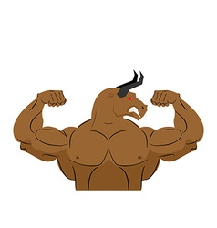 Angry bull strong athlete Aggressive fitness vector image