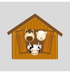 Animals farm design vector