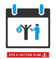 Arrest Calendar Day Eps Icon vector image