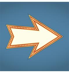 Arrow with Retro Lights vector image