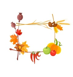 autumn harvest frame vector image