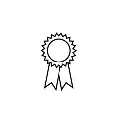 Award line icon black vector
