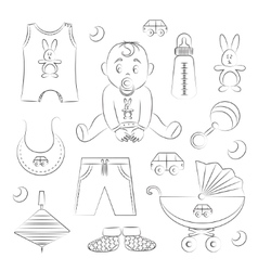 baboy design icons vector image